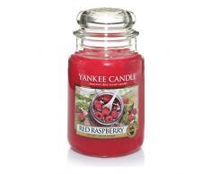 Yankee Candle candela profumata in giara grande, Lampone rosso, durata: fino a 150 ore