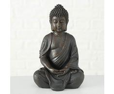 CasaJame Casa Accessori Decorazione Soprammobili Sculture Statua a Forma di Buddha Seduto 20cm