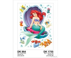 AG Design Dk 864 Wall Sticker Disney-Autoadesivo, Multicolor, 65 x 85 cm