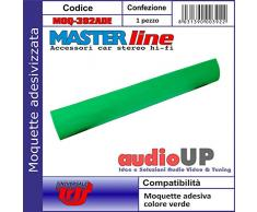 Moquette acustica adesiva per rivestimento box colore verde prato. Dimensioni cm70x140
