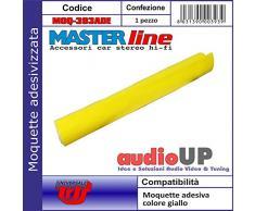Moquette acustica adesiva per rivestimento box colore giallo. Dimensioni cm70x140