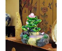 GL-Indoor fountain Umidificatore di Decorazione per Acquario con Fontana di Pesci da Fontana Lotus   Dimensioni: 28 * 20 * 28 cm