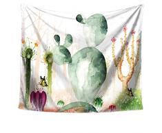 LvRao Arazzo di Cactus Tappezzeria a Parete di Telo da Paesaggio, Wall Hangings Decorazione parietale Tovaglia Parete Decorativi appesi Arazzi (Cactus #3, 150 * 130cm)
