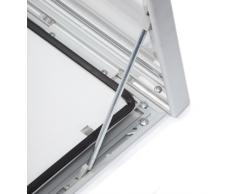 Bacheca da esterni, formato A1 (8 x A4), con guarnizione impermeabile, con chiave per chiusura