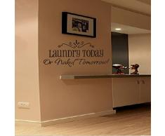LEORX Wall Decal Sticker House Rules citazione DIY rimovibile Wall Decal