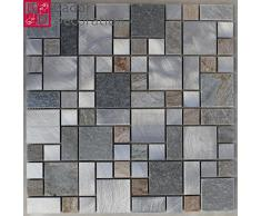 Mattonelle di mosaico di vetro delle mattonelle di mosaico piastrelle di vetro mosaico di alluminio mosaico di marmo nuovi