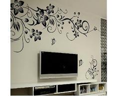 Rainbow Fox Adesivi Murali Nero Vite Farfalla Parete Dcorazione Rimovibile DIY Casa Hotel Ristorante Cucina Camera da Letto