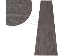 jago Pavimento adesivo laminato pavimentazione pvc 7 assi copertura di 0,975 m² colore a scelta (QUERCIA GRIGIO)