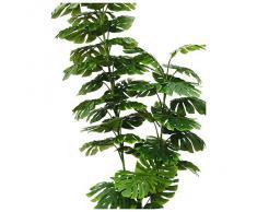 Euro Palms 82508705, Pianta artificiale ornamentale (Splitphilodendron), 150 cm, Verde (Grün)
