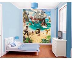 Walltastic Avventure di Pirati e Tesori Carta da Parati Murale, Carta, Multicolore, 12x6x52.5 cm