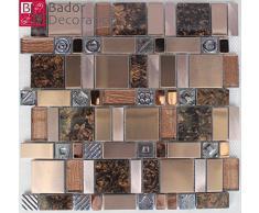 Mosaico di vetro mosaico piastrelle di mosaico di vetro marmo vetro alluminio acciaio inossidabile Antik Nuovo