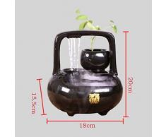 GL-Indoor fountain Ornamenti di Ceramica atomizzata umidificazione Acqua Paesaggio Fish Tank Fontana del Desktop Zen