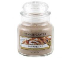 Yankee Candle - Pain Au Raisin, Candela profumata in barattolo di vetro, 104 g