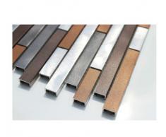 In acciaio inox e vetro mosaico piastrelle da parete mosaico di fondo in alluminio-color-mosaico di alta qualità - 1 opaca