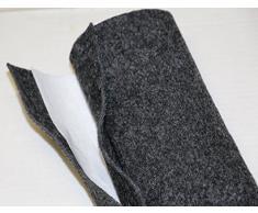 Moquette adesiva liscia da 65x151 cm di colore grigio antracite