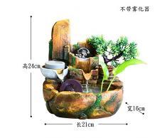 il giardino roccioso fontana feng shui regalo fortunato apertura rotary dribblare umidificatore salotto decorazione,per nebulizzazione