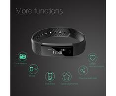 Fitness Tracker, XCSOURCE® Braccialetto Bluetooth Sport Activity Tracker, IP67 Impermeabile Bluetooth 4.0 , per Outdoor Corsa e Ciclismo, Bracciale Smartwatch, Contapassi, Calorie Counter, Sonno Monitoraggio,Smart tracker, Notifiche