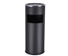 Songmics 60,5x24,5cm Pattumiera Posacenere portacenere esterno con cestino portarifiuti integrato 30L LTB17C