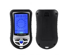 XCSOURCE 8 in 1 metro digitale multifunzione con la bussola Altimetro Barometro Termometro retroilluminato Display LCD TH325