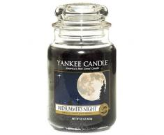 Yankee Candle 115174E Midsummers Night Candele in giara Grande, Nero(Notte di Mezza Estate)