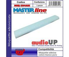 Moquette acustica adesiva per rivestimento box colore bianco ghiaccio. Dimensioni cm70x140