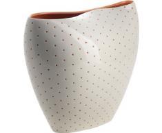 Alessi - Vaso per fiori Aldo, bianco/ arancione