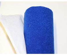 Moquette adesiva liscia da 65x151 cm di colore blu