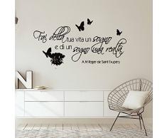 Adesivo Murale Wall Sticker Decal Mural Window Vinyl Decal Frasi Art Fai Della Tua Vita Un Sogno E Di Un Sogno Una Realta