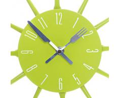 Premier Housewares PREM-2200669 Orologio da Parete, Metallo, Verde, 33x4x33 cm