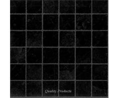 Piastrelle per pavimento in vinile adesive per bagno cucina effetto piastrella nera piccola x88