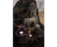 ZenLight Spiritualite - Fontana in poliresina, Marrone Scuro, 21 x 21 x 26 cm
