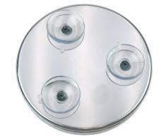 Fantasia - Specchio ingranditore in metallo con 3 ventose, fattore di ingrandimento 7x