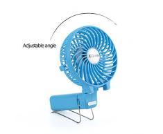 iEGrow da tavolo Ventilatore potente e silenzioso, USB Mini Ventilatori da soffitto Colore Blu