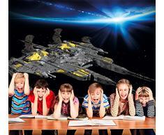 Navicella spaziale Fotomurale- Space Battleship nave da guerra spaziale tappezzeria da parete- quadro-astronave spazio decorazione da parete by GREAT ART (140 x 100 cm)
