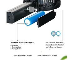 iEGrow da tavolo Ventilatore potente e silenzioso, USB Mini Ventilatori da soffitto Colore Nero