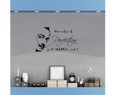 adesivo da parete adesivo murale bambini La citazione di Salvador Dali non ha paura della perfezione, non la raggiungerai mai. LivingRoom Bedroom Decor
