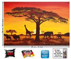 African Sunset / Tramonto in Africa FOTOMURALE - Africa Safari quadro-XXL tappezzeria da parete / decorazione da parete murale African Sunset / Tramonto in Africa FOTOMURALE - Africa Safari quadro-XXL tappezzeria da parete / decorazione da parete murale