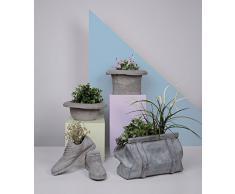 SELETTI Vaso in cemento CHAPEAUBOMBETTA