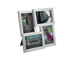 Umbra - Cornice collage portafoto, colore: Nichel