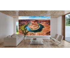 Horseshoe Bend FOTOMURALE - Grand Canyon - Colorado River Page Arizona King Bend quadro – decorazione da parete / tappezzeria da parete by GREAT ART (210 x 140 cm)