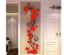 MORESAVE Wall Sticker Rosa Fiore acrilico 3D si dirige in camera TV Indietro decorazione della parete fai da te