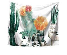 LvRao Arazzo di Cactus Tappezzeria a Parete di Telo da Paesaggio, Wall Hangings Decorazione parietale Tovaglia Parete Decorativi appesi Arazzi (Cactus #5, 150 * 200cm)