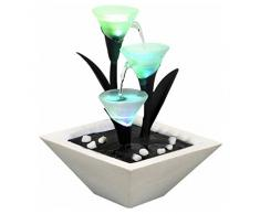 Zen'Light SCFV3TL Tulipa - Fontana per interni, 25 x 25 x 28 cm, colore: bianco