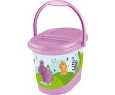 OKT Kids 1180150901200 - Cestino per pannolini con disegno di ippopotamo, colore: Lilla