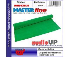 Moquette acustica fonotrasparente liscia colore verde prato. Dimensioni cm70x140