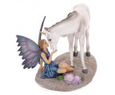 Puckator FYP100 - Soprammobile, fata baciata da unicorno, racconti delle fate, design di Lisa Parker, 11 x 19 x 13 cm