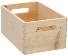 Zeller 13140 Cesta portaoggetti in legno di conifera, 30 x 20 x 15 cm