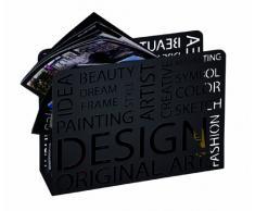 Haku Möbel Portariviste Design 35 x 28 x 10 cm Nero