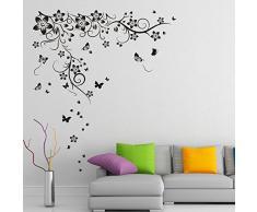 Walplus 150x130 cm adesivi da parete NUOVI grande farfalla VITE rimovibile autoadesivo arte murale decalcomania vinile DECORAZIONE CASA fai-da-te VIVENTE ufficio camera letto carta parati cameretta