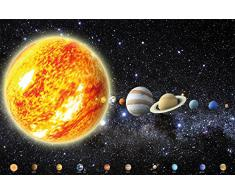 Sistema solare con pianeti FOTOMURALE - galassia universo cosmo tappezzeria da parete- stelle cielo Luna Terra - Poster XXL decorazione da parete by GREAT ART (210 x 140 cm